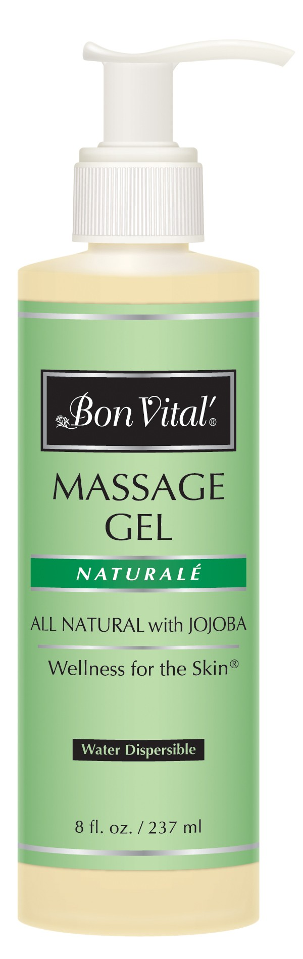 Bon Vital' Natural̩e Massage Gel 8 fl oz Bottle with Pump